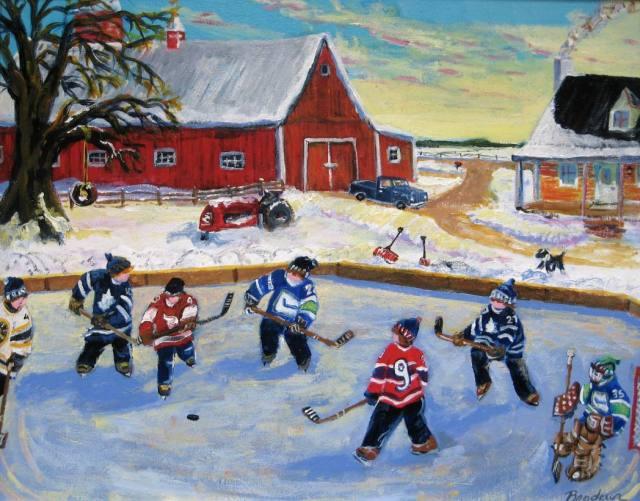 pond-hockey-on-farm-acrylic-16x20-1000