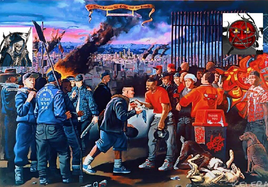 Call the cops! (guns and gangs) | bellscorners Gangs Bloods